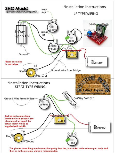 great pre with guitar and bass wiring diagram
