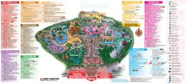 disneyland park maps magic vacations