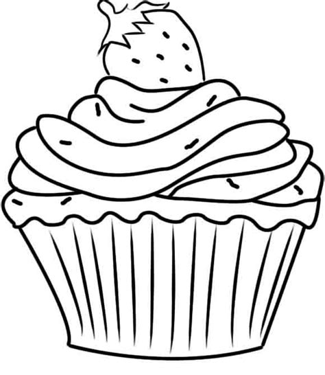 Printable Cupcake Coloring Pages Coloring Me Cupcake Coloring Pages