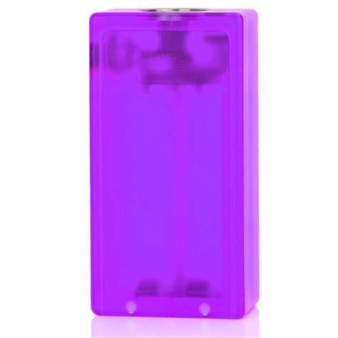 box mod with led lights abs v2 purple 18650 mechanical box mod with led light
