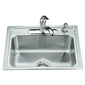 kohler toccata sink reviews kohler k 3348 4 toccata single basin self kitchen