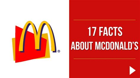 mcdonalds powerpoint template 17 facts about mcdonald s