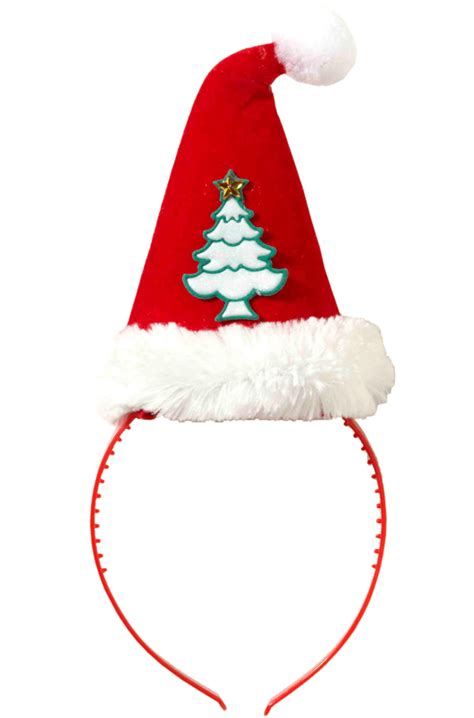 christmas tree santa hat headband costume accessory