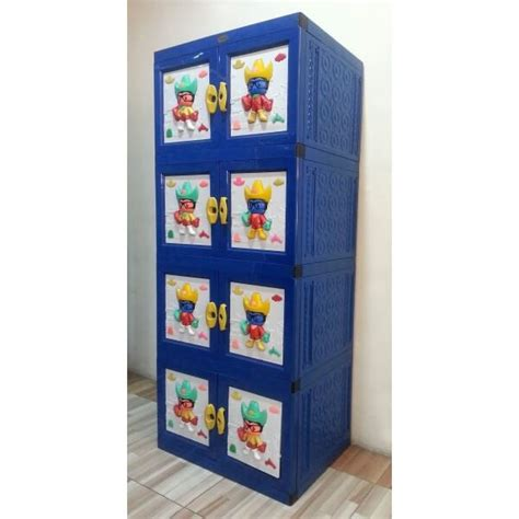 Lemari Plastik Box club lemari plastik model gantung warna biru new best