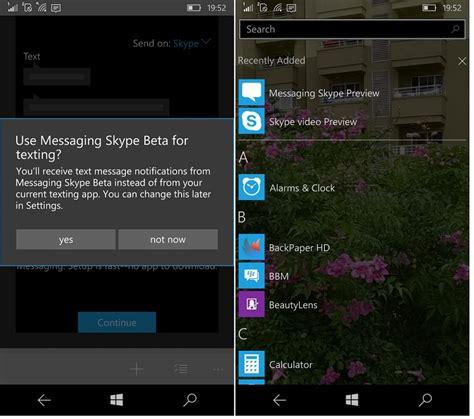 skype software for mobile windows 10 mobile skype beta leaks link