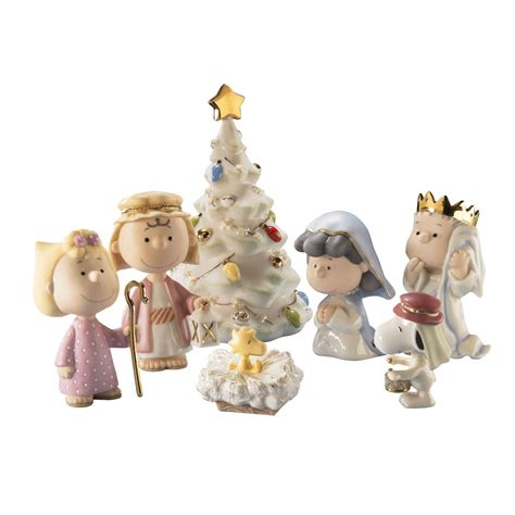 lenox nativity peanuts the christmas pageant snoopy