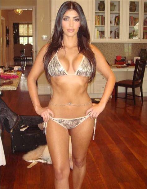kim kardashian shares super skinny pic and jokes
