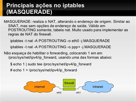 iptables tutorial nat tutorial sobre iptables