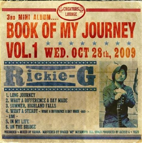 my journey books book of my journey vol 1 初回限定生産盤 rickie gのレビュー jugemブログ