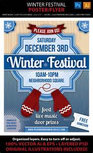 winter festival poster or flyer graphicriver