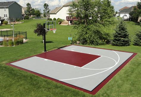 Half Court Basketball Dimensions For A Backyard by 20x30 Basketball Courts
