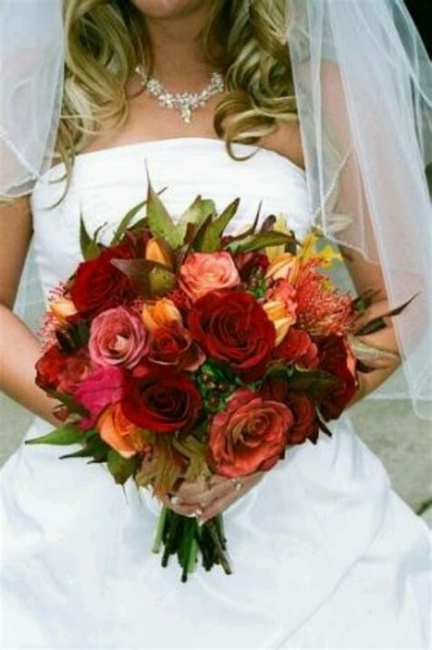 fall wedding bouquet fall wedding colors