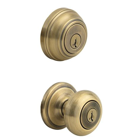 Deadbolt With Knob by Front Door Deadbolt Knob Brass Set Exterior