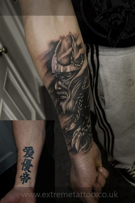 highland tattoo viking cover up sleeve in progress gabi tomescu