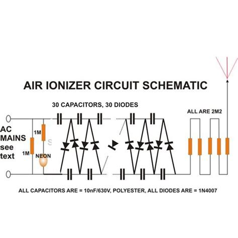 build  air ionizer purifier circuit  home