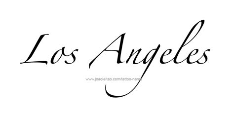 tattoo font los angeles los angeles city name tattoo designs page 3 of 5