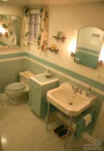 Blue And Brown Bathroom Ideas gorgeous blue tile bathroom vintage style from scratch