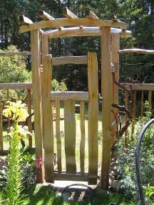 Garden Arbor Ideas Garden Gates Cedar Sustainable Woodwork