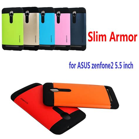 Slim Armor Layer Soft Asus Zenfone 2 55 Ze551ml newest cover for asus zenfone 2 5 5 inch ze550ml ze551ml dual layer plastic for zenfone2