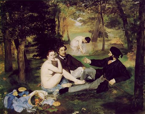 Courtyard Definition by Manet Luncheon On The Grass Realism 1863