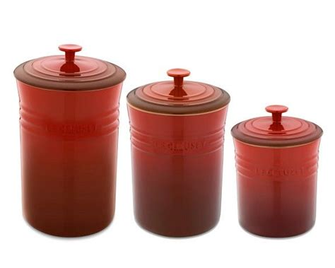 Blue Kitchen Canister Sets le creuset canisters red nesting pinterest