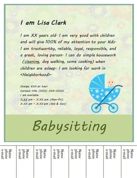 babysitting flyers flyers  flyer design  pinterest