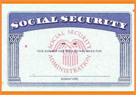 7 8 Blank Social Security Card Template Download Bioexles Blank Social Security Card Template