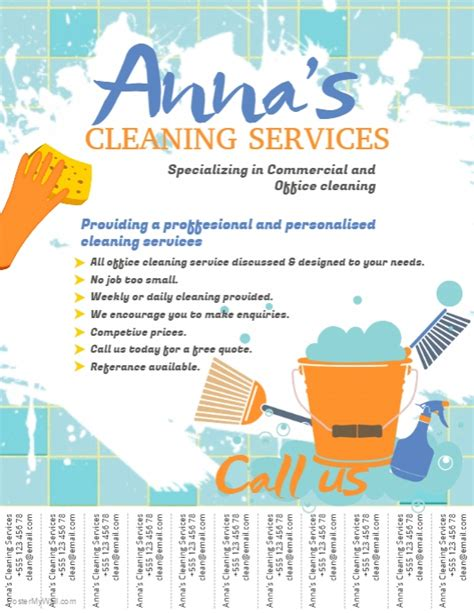 cleaning service brochure templates cleaning service flyer template postermywall