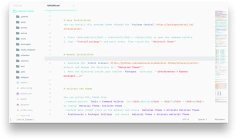 sublime text 3 material theme sidebar 15 beautiful free themes for sublime text