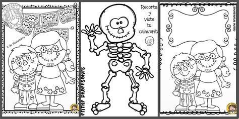 imagenes infantiles para colorear del dia de muertos dibujos para colorear el d 237 a de los muertos imagenes