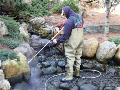 How To Clean A Backyard Pond by Winter Pond Maintenance Fish Koi Goldfish Care Rochester