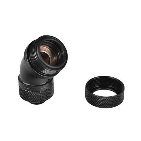 Thermaltake Pacific G14 Petg 16mm Od Compression Black pacific g14 petg 45 degree compression 16mm od