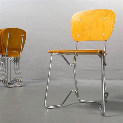 beautiful folding chairs beautiful armin wirth aluflex six folding stacking chairs