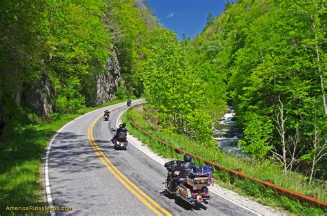 on road motocross best motorcycle rides nc wayah road smoky mountain