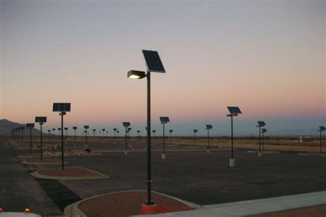 Solar Powered Parking Lot Lights Solar Outdoor Parking Lot Lighting For Us Facility