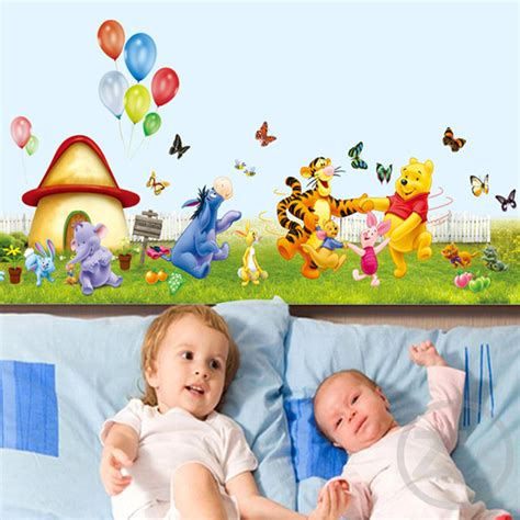 winnie the pooh home decor large size winnie the pooh wall sticker home decor cartoon