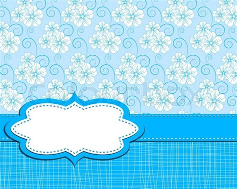 blue cute wallpaper vector vector cute flower background stock vector colourbox