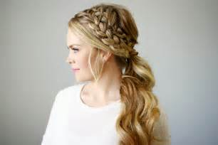 braids hairstyles pictures ponytail double braided ponytail