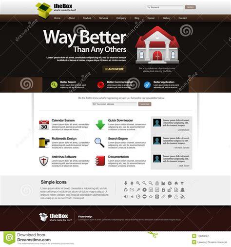 Web Design Template Element 14 Dark Theme Royalty Free Stock Photography Image 15813207 Web Theme Templates
