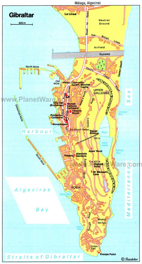 printable road map of gibraltar road map of gibraltar gibraltar road map vidiani com
