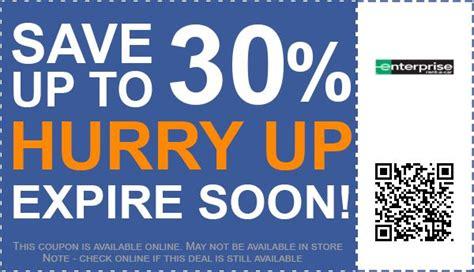 enterprise rent  car coupons   promo code