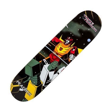x skateboard deck primitive skateboarding x transformers rod peacock