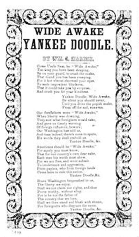 yankee doodle in sign language wide awake yankee doodle song sheet print material