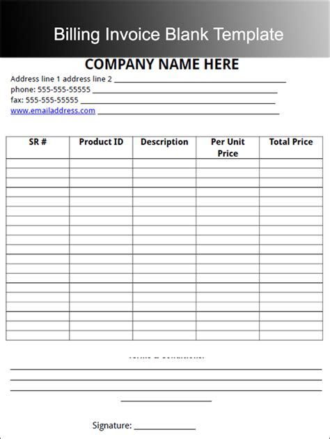 15 Invoice Templates Free Word Excel Pdf Formats Line Item Invoice Template
