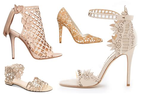 Found Ports Chic Cut Out Pumps by Our Favorite Laser Cut Heels Green Wedding Shoes