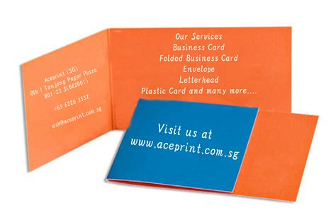 folded business card template singapore printing service aceprint