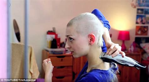 youtube s rebecca brown shaves her head to combat hair youtube s rebecca brown shaves her head to combat hair