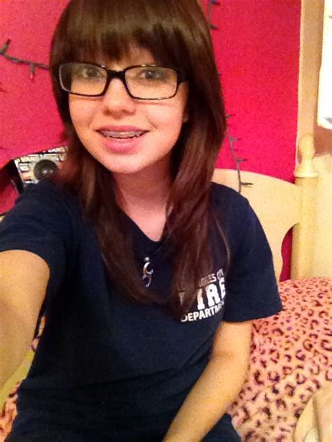 hairstyles for glasses and braces red brown hair glasses braces straight bangs my hair