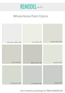 Bathroom Colour Scheme Ideas remodelaholic choosing a whole home paint color