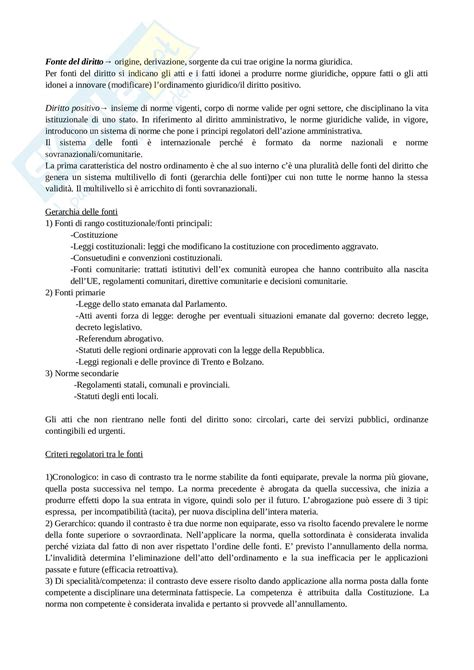 dispensa di diritto amministrativo appunti di diritto amministrativo
